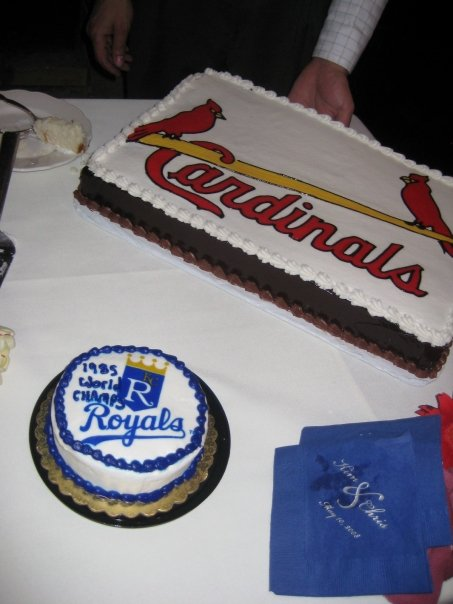 1985 world series cardinals royals wedding cakes
