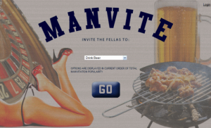 manvite e-vites for men
