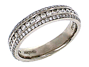 Men's diamond wedding band from Frederick Goldman