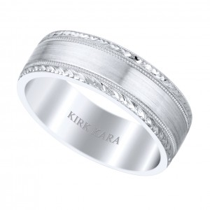 Male wedding band from Kirk Kara