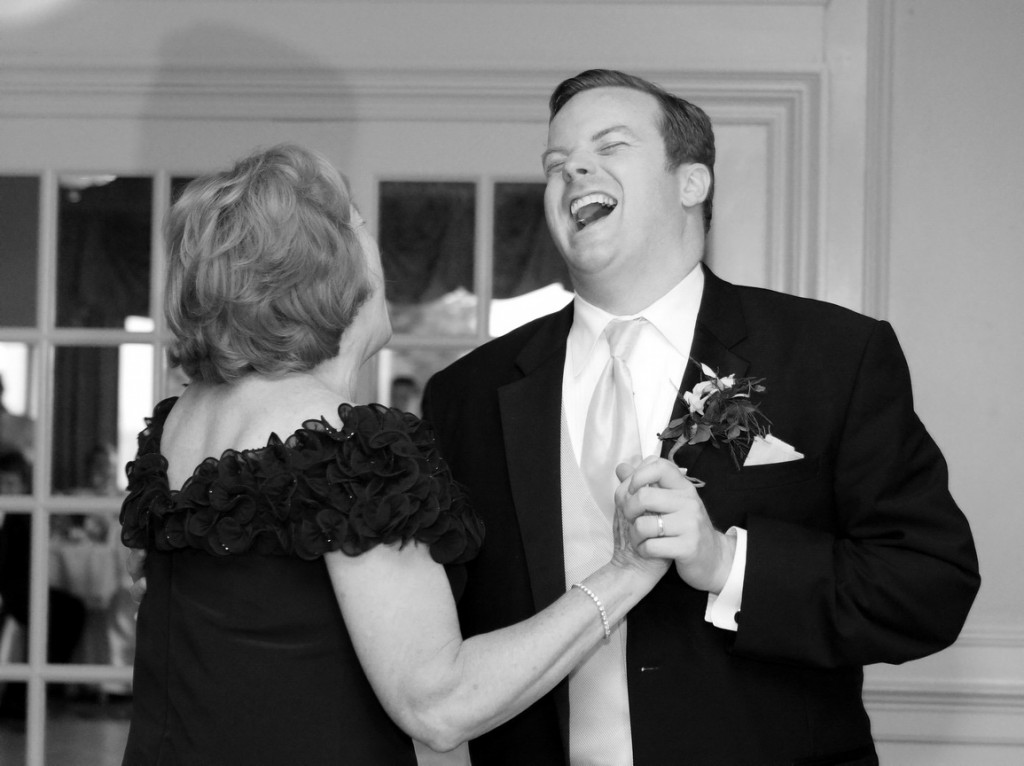 It's all laughs with mom until the bride tries to steal her baby boy..