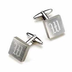 Personalized Harrison Silver Cufflinks