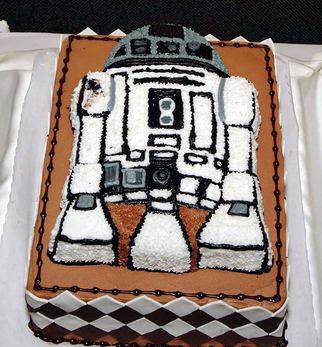 R2D2 Wedding Cake