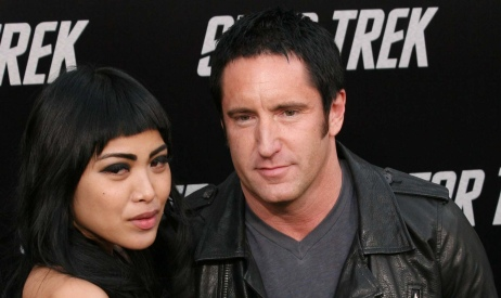 New groom Trent Reznor and his bride, Mariqueen Maandig
