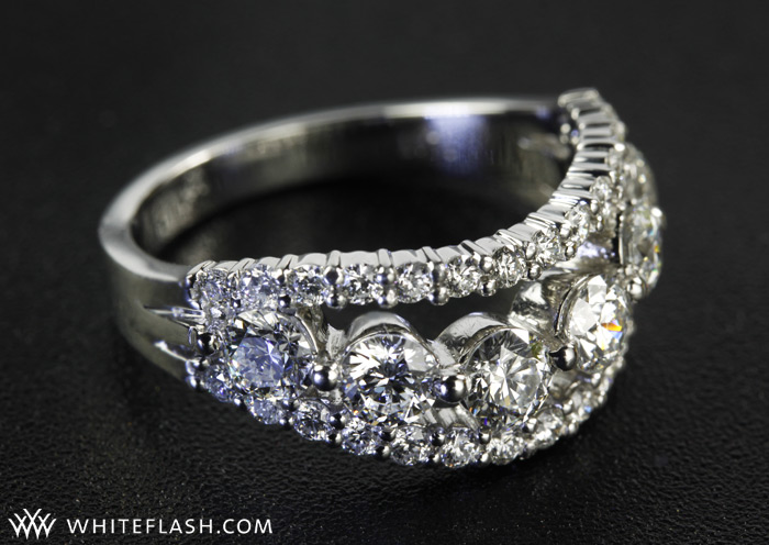 Custom Five Stone Diamond Wedding Band