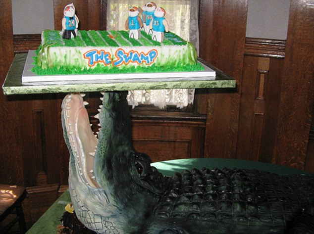 2-Foot Long Alligator Wedding Cake
