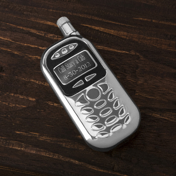 Personalized cell phone flask