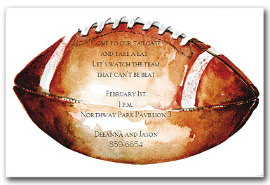 Football Bachelor Party Invitation