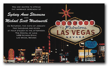 Las Vegas Bachelor Party Invitation