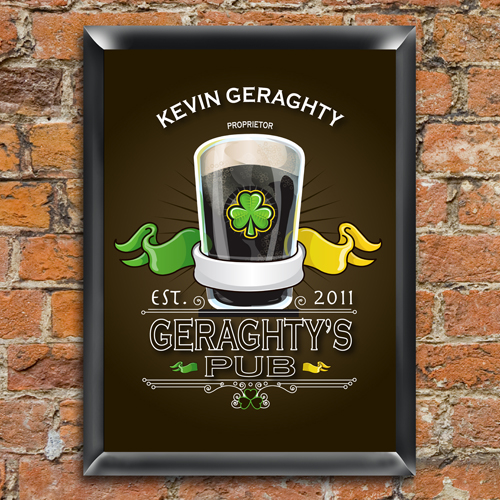 Click to buy Custom Irish Bar Sign