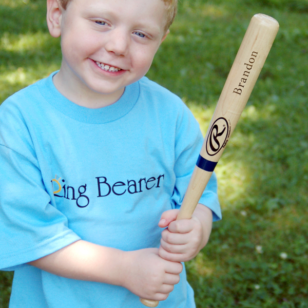 Buy Personalized Ring Bearer Baseball Bat