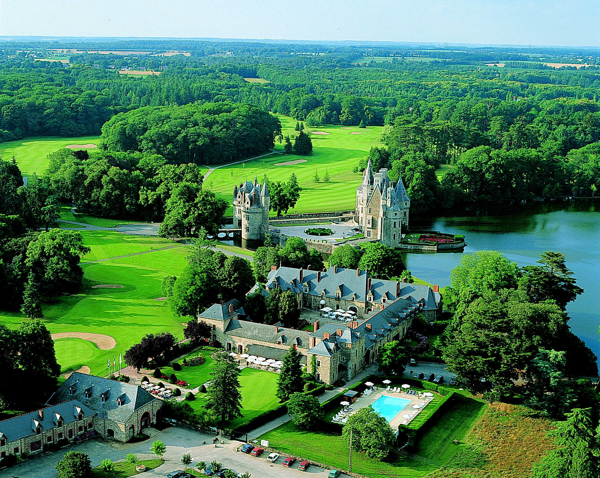 An aerial view of La Bretesche