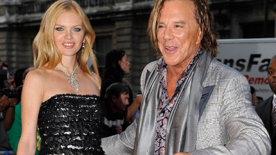 Mickey Rourke & Elena Kuletskaya (photo - Fox News)