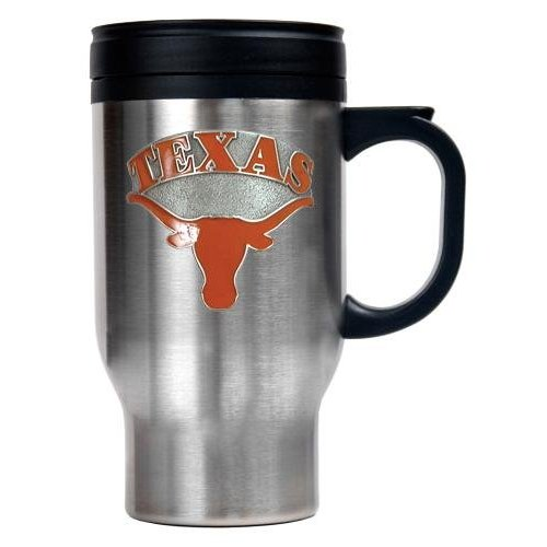 Texas Longhorns Stainless Steel Travel Mug