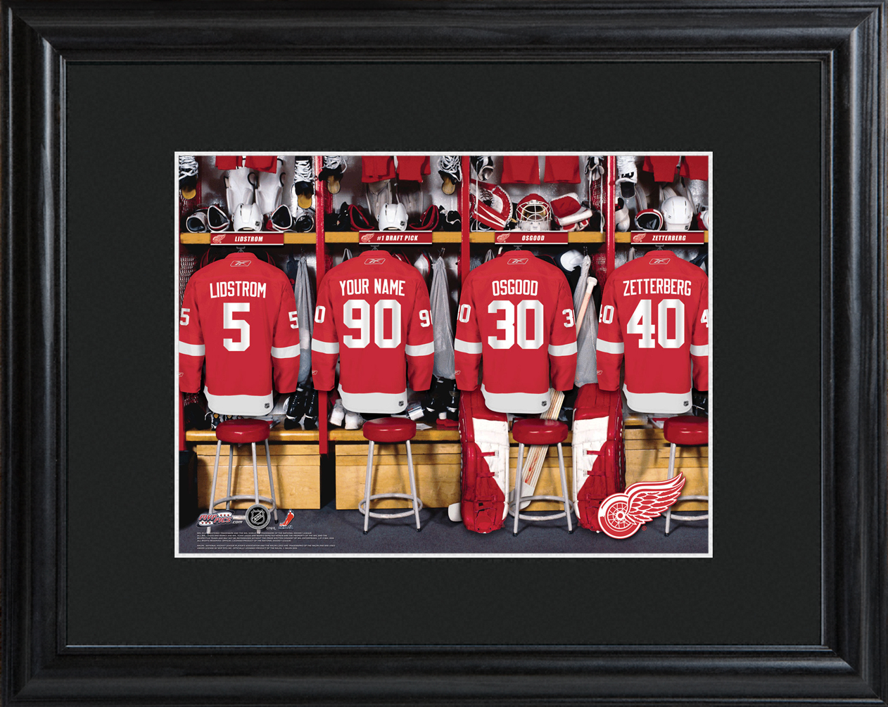 Detroit Red Wings Framed Locker Room Print