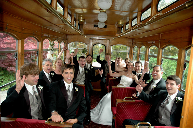 WeddingPartyonTrolley