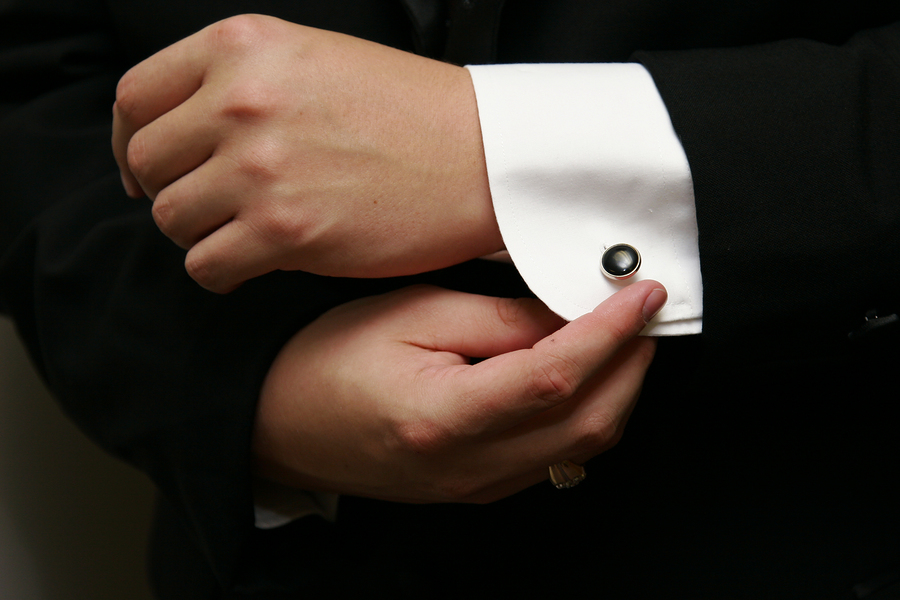 Many grooms accessorize with custom cufflinks