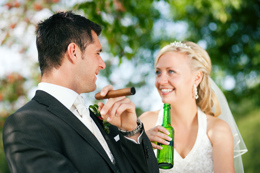 bigstockphoto_Unusual_wedding_couple_6563211