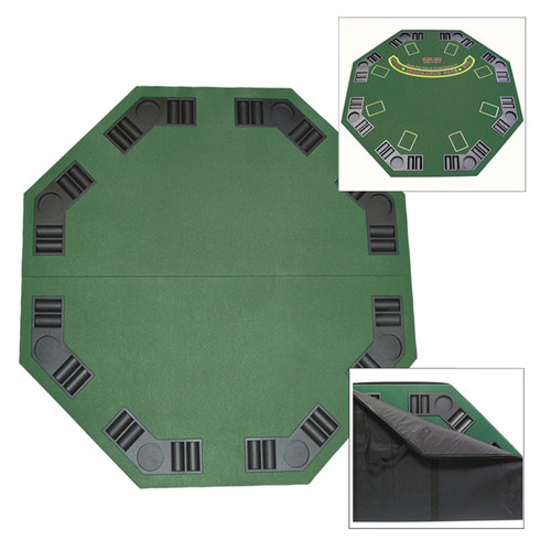 removable tabletop surface for playing blackjack and poker