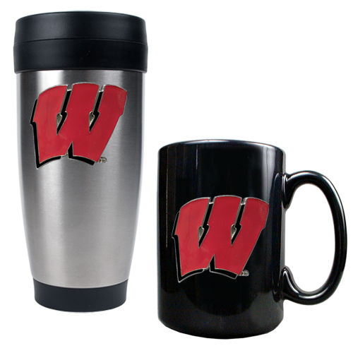 Badgers Tumbler & Coffee Mug Set