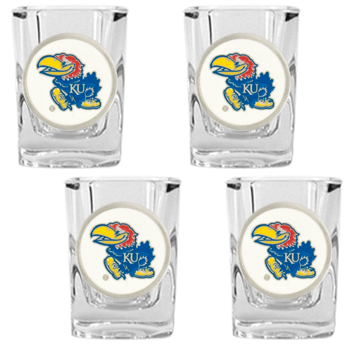 Jayhawks Shot Glass Set