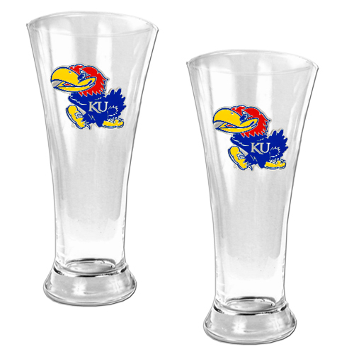 Jayhawks Pilsner Glass Set