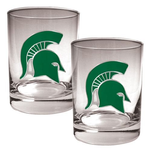 NCAA Collegiate Rocks Glass Set