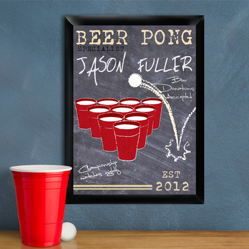 beer pong specialist pub sign