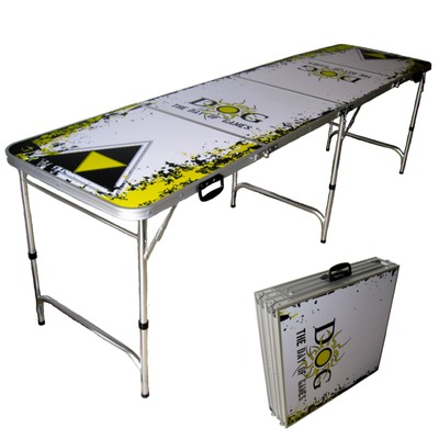 day of games folding beer pong table
