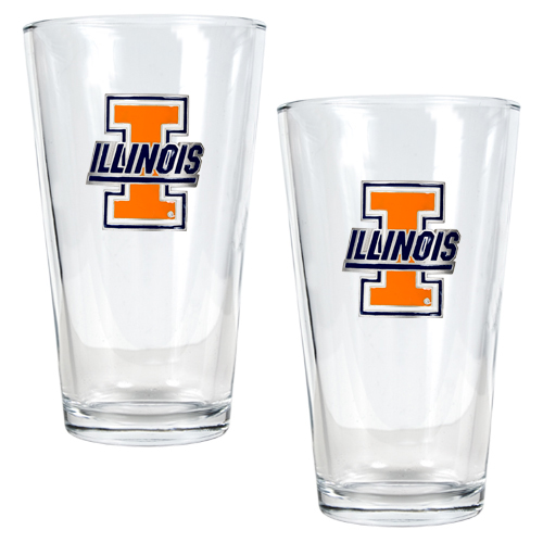 Illini Pint Glass Set