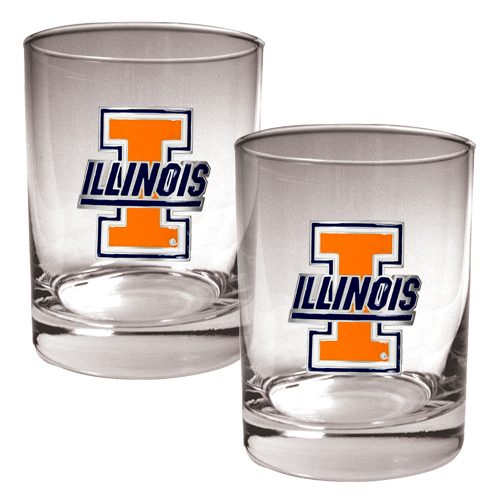Illini Rocks Glass Set
