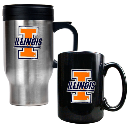 Illini Travel Mug Set
