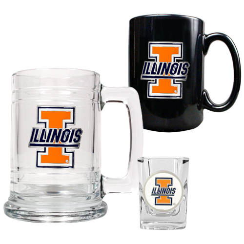 Illini Barware Set