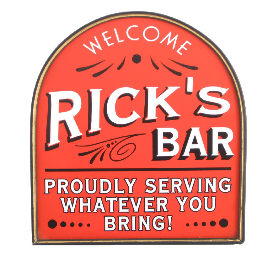 "Personalized ""Proudly Serving"" Pub Sign"