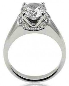 Michael Bondanza Platinum Engagement Ring ($3,838)
