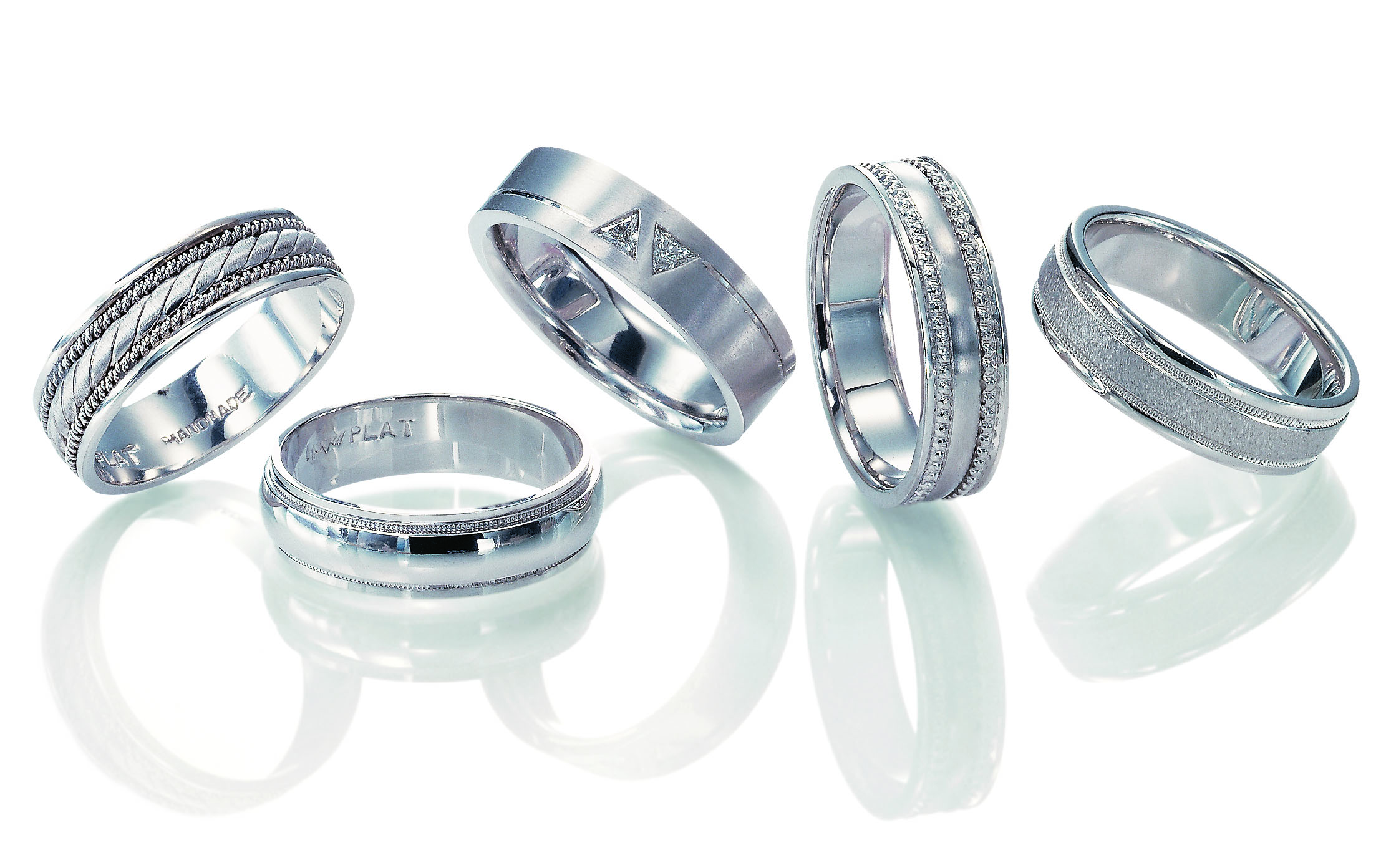 Novell men's platinum wedding bands
