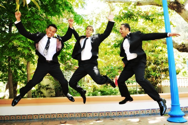 "OneWed recommends adding the ""jumping groomsmen"" to the do-not-take list"