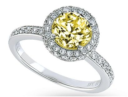 Carrie Underwood 39s platinum and yellow diamond ring is estimated at 800000