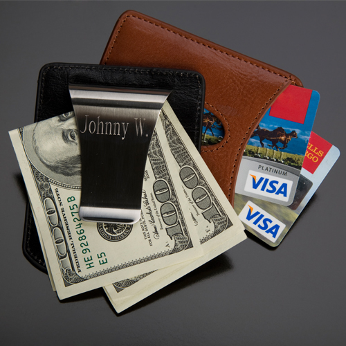 Personalized Storus 2-in-1 money clip card holder