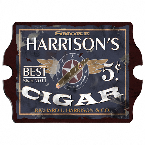 Vintage Cigar Pub Sign