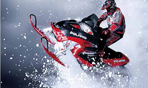 bachelor party snowmobile