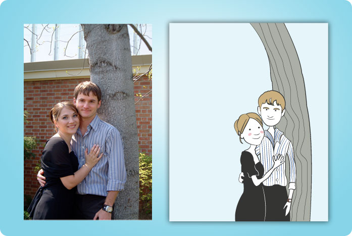 Terardrop weddings caricature