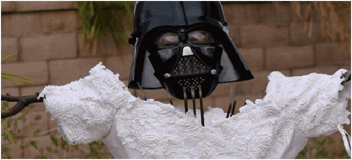 ex wife wedding dress darth vader