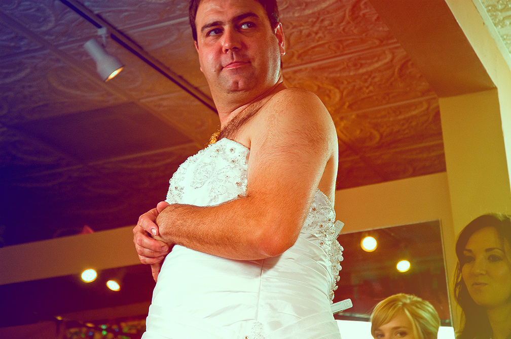 the man registry man in wedding dress