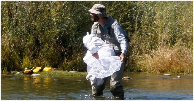 wedding dress fishing net