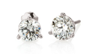 Stuller: Platinum and diamond stud earrings by Stuller, $810