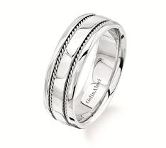 Men's platinum wedding band by Gelin Abaci