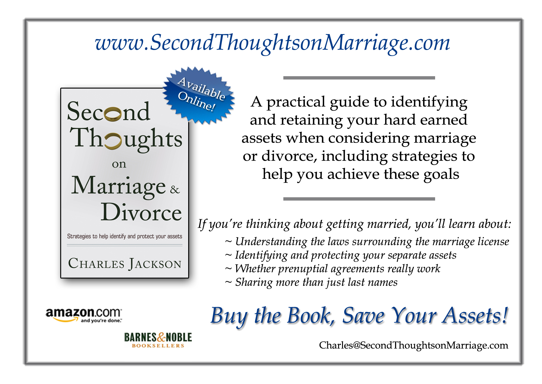 second thoughts on marriage and divorce