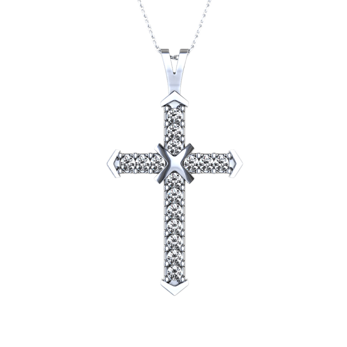 men's hip hop diamond cross pendants