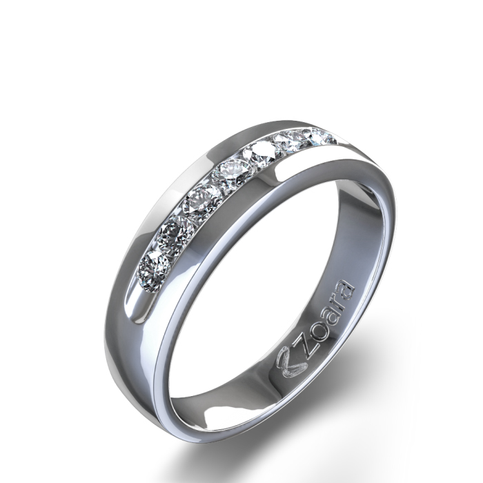 Men's diamond wedding ring from Zoara